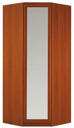 Шкаф угловой с зеркалом сб-101.